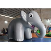 Quality Customized Airtight Standing Inflatable Elephant Cartoon For Commercial Activity for sale