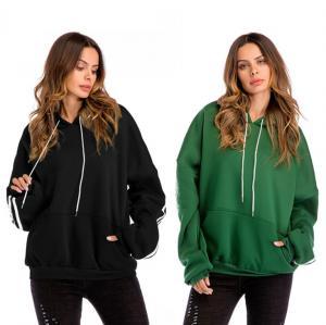 Quality Blank Plus Size Ladies Shirts Kangaroo Pocket Fleece Lined Hoodie Autumn for sale