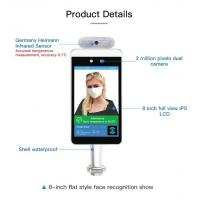 Quality 15W 8 Inch Face Recognition Infrared Human Body Thermometer for sale