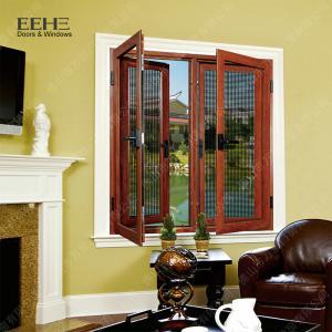 Quality Red Aluminum Double Glazed Windows / Buildings Aluminum Double Pane Windows for sale