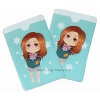 Quality Pretty Pattern Plastic Card Holder 12 Colors Offset Printing Puffy Holder for sale