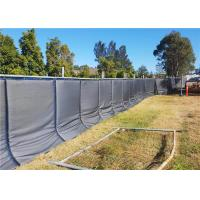Quality Sound Insulation Portable Noise Barriers 3' x 12' x 2pcs for 6'x12' temporary fence for sale