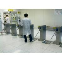 Buy Factory Entrance People Walking Anti-collision ESD Alarm Automatic 3 Arm Rotating Tripod Turnstile Gate With RFID Reader at wholesale prices