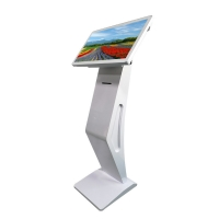 """Quality 450 Nits 21.5"""" Floor Stand Touch Screen Kiosk With 58mm Ticket Printer for sale"""