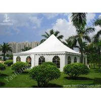 Buy cheap Recreation White PVC Fabric Cover High Peak Tents for Fun on Grassland from wholesalers