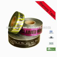 Quality 15cm Width PE Safety Barrier Warning Underground Detectable Warning Tape for sale