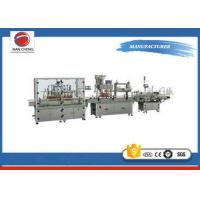 Quality Stainless Steel Rotary Auto Oil Filling Machine PLC Control High Performance for sale