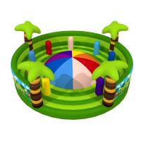 Quality Round Shape Interesting Outdoor Inflatable Sports Games Forest Painting Mountain With Fence Walls for sale