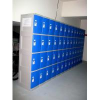 Quality 8 Tier Blue ABS Plastic Lockers Swimming Pool Lockers With Combination Lock for sale