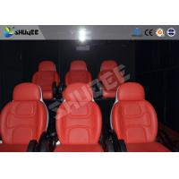 Quality Comfortable red motion chair 7D movie theater of motion cinema equipment for sale