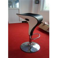 Quality Unique Style Outdoor Plastic Bar Stools Backless PU Seat Spoon Shape for sale