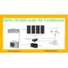 18000btu Off Grid 48V  DC Inverter Compressor 100% Solar Air Conditioner for sale