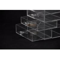Buy 5 Tier Acrylic Display Stand Custom Store Fixtures Jewelry Display Drawer With Diamond Handle at wholesale prices