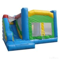 Quality Blue And Green Inflatable Bouncer House & Slide for sale