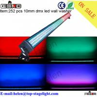 Quality 252 pcs 10mm dmx rgb indoor led wall washer light for sale