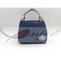 Quality Blue 420D Polyester Travel Cooler Bag For Picnic Large Capacity 21.5*18*17 Cm for sale