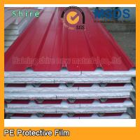 Quality Transparent PE Protective Film For Pre Painted Metals / Sandwich Panel 180 - 200g for sale