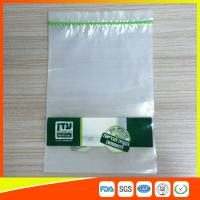 Quality Disposable Biodegradable Zip Lock Packaging Bags For Household / Industrial Packing for sale