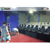Quality Multi Person Interactive 7D Movie Theater With Unique Interactive Shooting System for sale