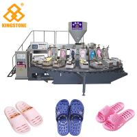 Quality Rotary 2 Color PVC PCU Slipper Making Machine With Air Blowing System for sale