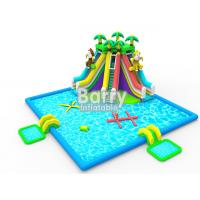 Kids inflatable water park equipment , OEM/ODM jungle inflatable water slide pool park for sale