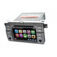 Quality BMW E46 Car Touch Screen GPS Bluetooth DVD Player with Windows CE 6.0 / ISDB-T / RDS for sale