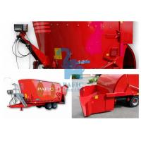 Quality Hay Grinder Mixer Feed Trailer With Auger And Electronic Weighting System for sale
