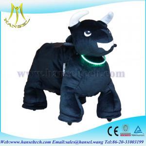 Quality Hansel ufo catcher plush animals motorized plush riding animals for sale