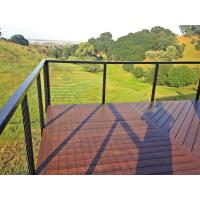 Quality Black Stainless steel inox railing cable railing with top handrail for terrace/ deck for sale