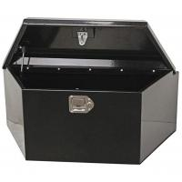 China Abrasion Resistant Black Trailer Tongue Tool Box Large Weight Capacity on sale