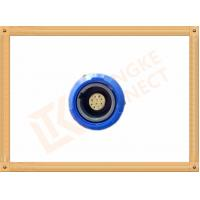 Quality Blue Plastic Female Push Pull Circular Connectors / 10 Pin Circular Connector for sale