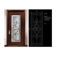 Classical Color Door Art Glass Panels Thermal Sound Insulation Various Shape
