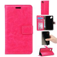 Quality Side - Open Cell Phone Leather Wallet Case For Wiko Sunny Crazy Horse Magnetic for sale