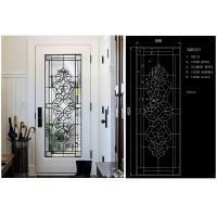 Quality Energy Saving Decorative Art Glass Window Panels , Embroidered Inlay Glass Sheets for sale