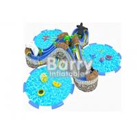 Kids Inflatable Water Park / Aqua Park Durable Commercial Grade With 3 Pools for sale