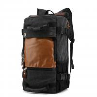 Buy 1.3kg Multifunctional Outdoor Travel Backpack 40L Black Canvas For Male at wholesale prices
