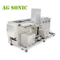 Quality 2400W 300L Engine Block Large Ultrasonic Parts CleanerWith Oil Skimmer for sale