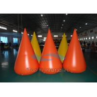 Quality 0.6mm PVC Tarapulin Floating Inflatable Buoys , Inflatable Water Barrier For Pool for sale
