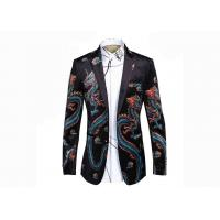 Quality Dragon Pattern Mens Printed Suits , Slim Fit Floral Suit Jacket Casual Style for sale