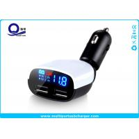 China White Dual Port Usb Car Charger 3.4a Car Charger Voltage Monitor / Automotive Usb Charger on sale
