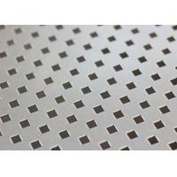China ISO9001 Decorative Perforated Metal Sheet Plain Weave Style 1.22x2.44m Panel Size on sale