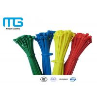 Quality Custom Color Reusable Tie Wraps , Plastic Ties For Cables CE Approved for sale