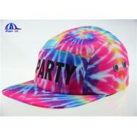 Quality Colorful Polyester 5 Panel Camp Cap Snapback Hats With Allover Sublimation Printing for sale