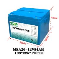 Quality Li Polymer LiFePO4 12 Volt Lithium Battery Pack for Home Solar Energy System for sale