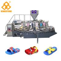 Quality Automatic Rotary PVC PCU Kids' Sandals Making Machine With Air Blowing 20 Stations for sale