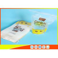 Quality Reusable Stand Up Ziplock Bags / Liquid Resealable Stand Up Pouches for sale