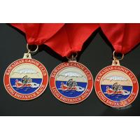 Quality Rowing Gifts Competition Medals And Medallions Sports Day Medals With Red Ribbon for sale