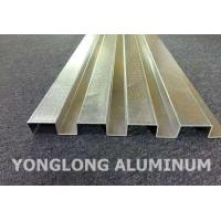Quality RAL Colour Powder Coated Aluminium Extrusions / Curtain Wall Profile for sale