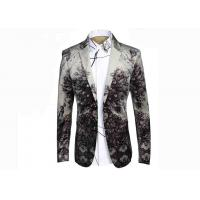 Quality Nostalgic Ethnic Mens Printed Suits ,Breathable Mens Printed Blazers Big Tide for sale
