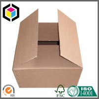 Quality Plain Brown Unprinted Corrugated Packaging Box; Wholesale Plain Shipping Carton for sale